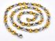 Cadena de Acero, dos tonos, IP Dorado