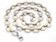 Cadena de Acero, dos tonos IP Dorado